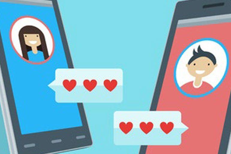 Paare finden sich auf Tinder per App